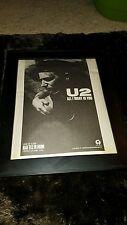 U2 All I Want Is You Rare Original Radio Promo Poster Ad Framed!