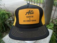 Vintage Foam Mesh Al's Radiator Baseball Cap Yellow Patch Snapback Hat Trucker