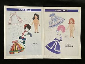 Nancy Ann Storybook Doll Magazine Paper Doll, 1994, By Gerry Hizer