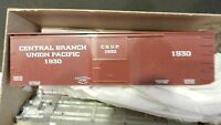 Roundhouse MDC HO Old Time 36' Truss Rod Boxcar Kit UP, Central Branch, NIB