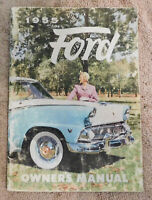 1955 Ford Mainline Customline Fairlane Skyliner Sunliner ORIGINAL OWNERS MANUAL
