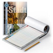 itenga Spieleblock A4 50 Blatt Stadt Land Fluss modernes Design mit Deckblatt