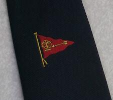 FLAG PENNANT CROWN & ARROW TIE VINTAGE RETRO MOTIF EMBLEM CREST 1980s 1990s
