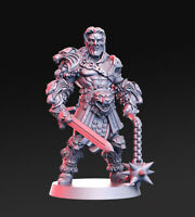 LIONEL BARBARIAN KING SCALE 32mm VIKING MORDHEIM ZOMBICIDE DnD ROL WARHAMMER