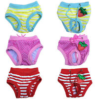 Lovely Female Pet Dog Puppy Sanitary Striped Panty Pant Short Diaper Underwear