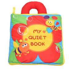 MY QUIET Activity Cloth Book Toddler Babies Travel Toy Button Shoe Lacing Zip