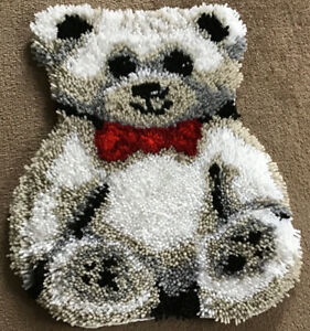 Handmade, Teddy shaped rug, white/beige,  48cm L X 40cm W. New.