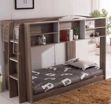 King single Lowline bunk oak WITH storage Mocha  NEW Version Kids