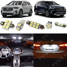 11x White LED lights interior package kit for 2017 & Up Hyundai Santa Fe YF2Z