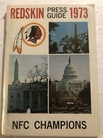 1973 WASHINGTON REDSKINS Media Guide Yearbook GEORGE ALLEN Billy KILMER Brown