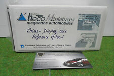 BOITE VITRINE DISPLAY CASE pour voiture a l'echelle 1/43 HECO MINIATURES H1001