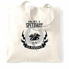 Biker bolso Speedway Classics Moto Racing Logo Racing Speed Pista