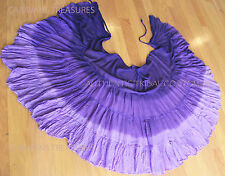 Purple 3-Tone Wrap Skirt Gypsy Tribal Fusion Belly Dancel ATS