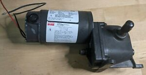 Dayton 4Z724A 90VDC 6 RPM 177 in-lb TENV Right Angle Gearmotor