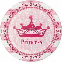 """** 8 x PRINCESS 7"""" PAPER PLATES PINK GIRLS BIRTHDAY PARTY CHILDRENS TABLEWARE"""