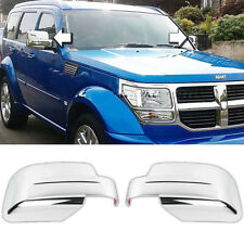 Mirror Covers For 2008-2013 JEEP LIBERTY&07-17 Patriot+07-12 DODGE NITRO Chrome
