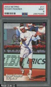 2003 Netpro Tennis #11 Roger Federer PSA 9 MINT