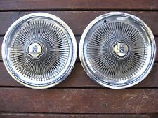 "1973 1974 BUICK REGAL 15"" HUBCAP HUB CAP, a pair"