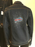 BUFFALO BILLS NFL Best Selling** Womens Blinged Jean Jacket NWT $180 SM-4X