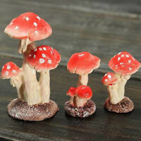 Mushroom Toadstool Miniature Fairy Garden Terrarium Figurine mini house Decor