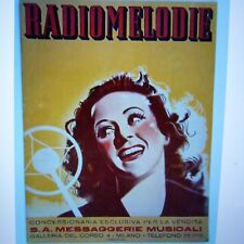 RADIOMELODIE italian popular songs 1939 , tango etc