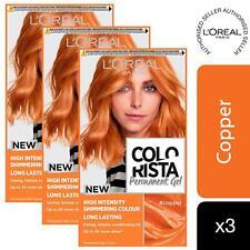 3 Pack L'Oreal Paris Colorista Hair Colour Copper Permanent Gel Hair Dye