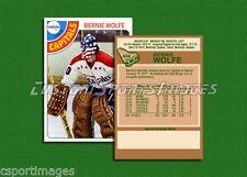 Bernie Wolfe - Washington Capitals - Custom Hockey Card  - 1977-78