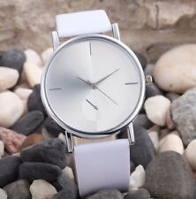 New Hot Geneva Luxury White Leather Stainless Women Quartz Dress Fashion Watch