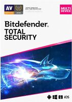 BITDEFENDER TOTAL SECURITY 2021 - INCLUDES VPN -  3 PC DEVICE  - 1 YEAR DOWNLOAD