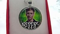 GEORGE EZRA PHOTO  SINGER  SILVER PLATED 18 INCH NECKLACE GIFT BOXED PARTY