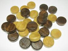 Brettspielzubehör Backgammon Spielsteine 20 x 8 mm Zubehör Holz