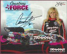 "Courtney Force, Drag Racer, Signed 10"" x 8"" Photo, COA, UACC RD 036"