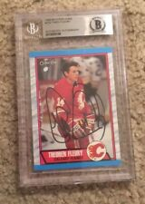 Theo Fleury Signed 1989 OPC Rookie Card Beckett Certified
