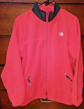 THE NORTH FACE RED FLEECE SWEATER JACKET YOUTH SIZE XL FULL ZIP WARM SOFT COAT