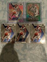 2019-20 Mosaic Allen Iverson 76ers Sixers NBA 5 Card Lot Pink Green Mosaic