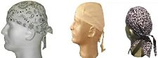 Lot Set 3 Doo Rags Headwrap White Pasiley Yellow Pink Leopard Durags Biker
