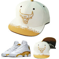 Mitchell & Ness NBA Chicago Bulls Snapback Hat Air Jordan Retro 13 DMP Gold Cap
