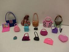 Mattel 1980's Barbie Hand Bag / Purse / Luggage Laptop Lot of 17 - Excellent -