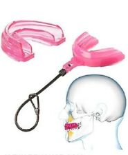 New Shock Doctor Braces Instant Fit All Sport Youth Strapped Mouthguard Pink
