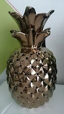 Ceramic Copper Bronze Coloured Pineapple Table Lamp Electrical NEW *LAST ONE*