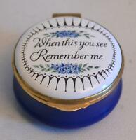 "Crummles & Co. English Enamels ""When This You See Remember"" Me Trinket Box"