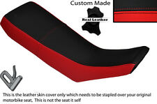 RED & BLACK CUSTOM FITS YAMAHA DT 125 R 90-98 DUAL LEATHER SEAT COVER