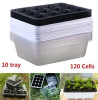 120 Cells Seedling Starter Tray Seed Germination Plants Propagation 10 Trays New
