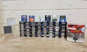 625 x Micro Floppy Disc + 6 Cases JobLot -  Sony Memorex TDK 2HD Tecnoplus Games