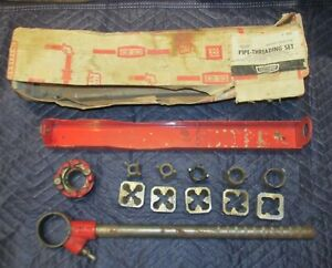 Vintage Craftsman Commercial Ratcheting Pipe Threader Set 5 Dies Original Box