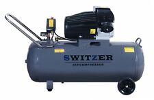 Switzer Compresseur d'air 3HP 13CFM 100 L Litres 230 V 8 bar Réservoir Double cylindre AC007