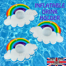 Inflatable Floating Drink Holder Fruit Rainbow Swimming Pool Beach Can Cup Beer