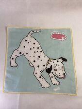 Vintage Cartoon Googly Eye Dog Dalmation Handkerchief Hanky Cloth Tissue