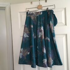 Vintage 70s Swing Skirt Tie Side S/M Indie Hipster VLV Trend Cute Rockabilly