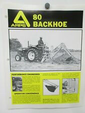 Arps Model 80 Backhoe Sales Brochures Specifications